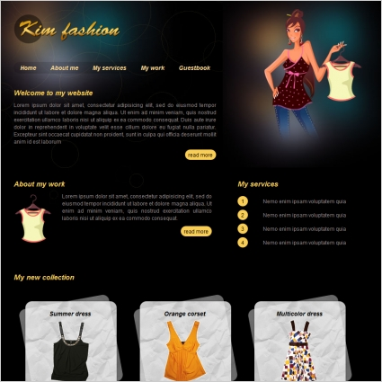 Kim Fashion Template