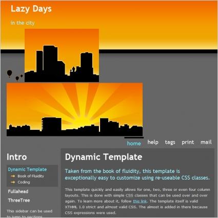 Lazy Days Template