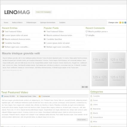 Leno Mag Template