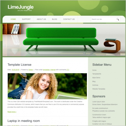 LimeJungle Template