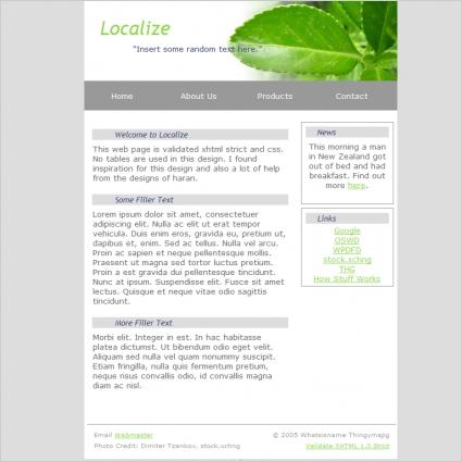 Localize Template