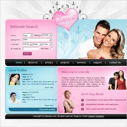 Gratis css dating website skabeloner