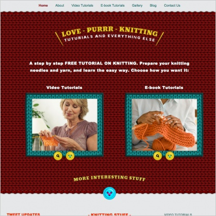 Love Purr Knitting Template Free website templates in css, html, js ...