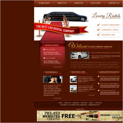 Luxury Car Rental Template Free Website Templates In Css Html Js - Classic car websites