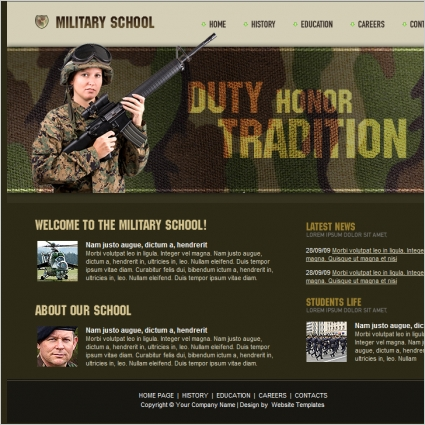 Military School Template