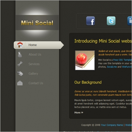 Mini social free website templates in css html js format for free mini social free website templates in css html js format for free download 21486kb maxwellsz