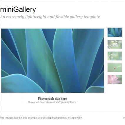 miniGallery Template