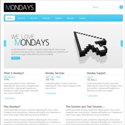 Mondays Template