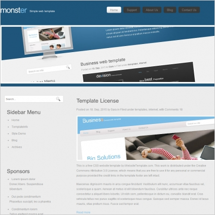 Monster template free website templates in css html js format for monster template wajeb