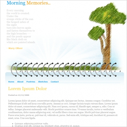 Morning Memories Template