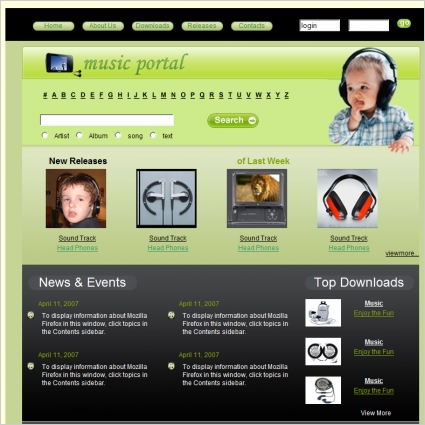 Music Portal Template Free Website Templates In Css Html Js Format - Music website templates