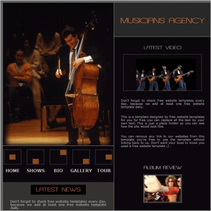 Musicians Agency Template