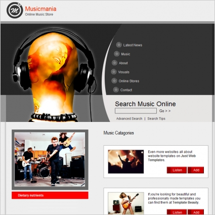Musicmania Template Free website templates in css, html, js format ...