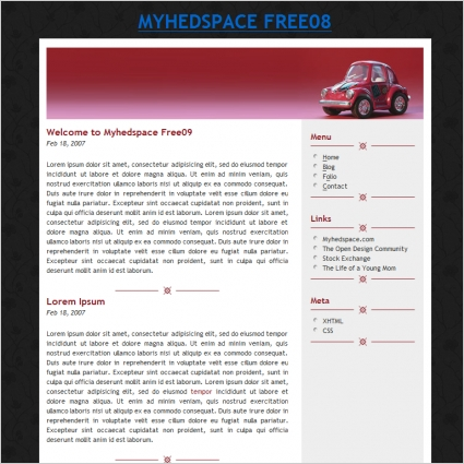 My hed space Free 08 Template