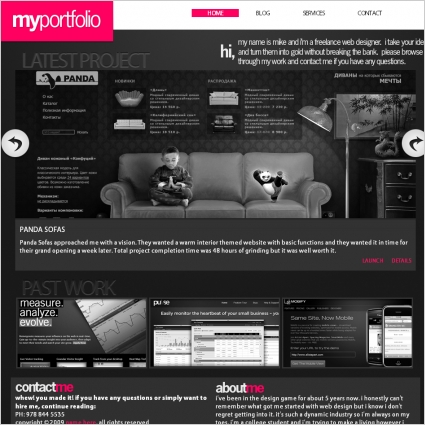 Most popular website templates by wix | 2.