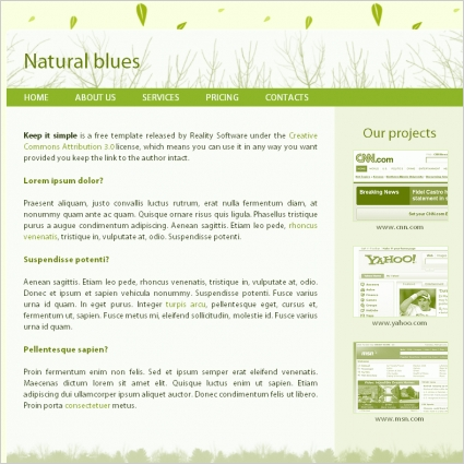 Natural Blues Template
