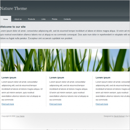 Nature Theme Template