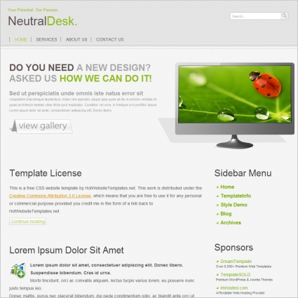 Neutral Desk Template