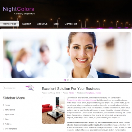 Night Colors Template
