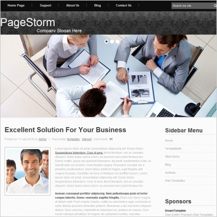 Page Storm Template