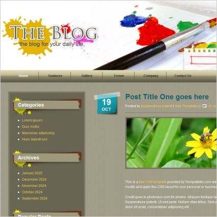 Paint Blog Template