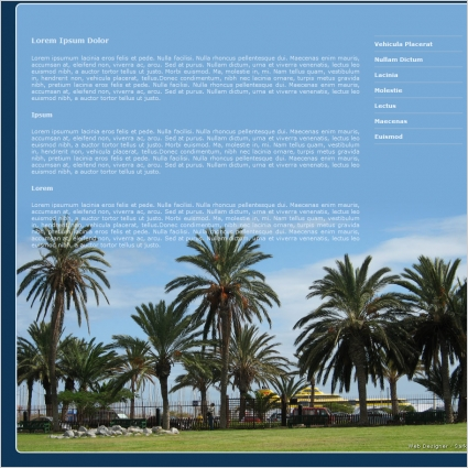 palm trees template free website templates in css html js format