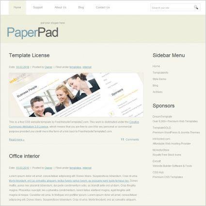 Paper Pad Template