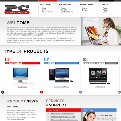 pc template free website templates in css html js format for free