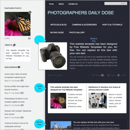 Photographers Daily Dose Template