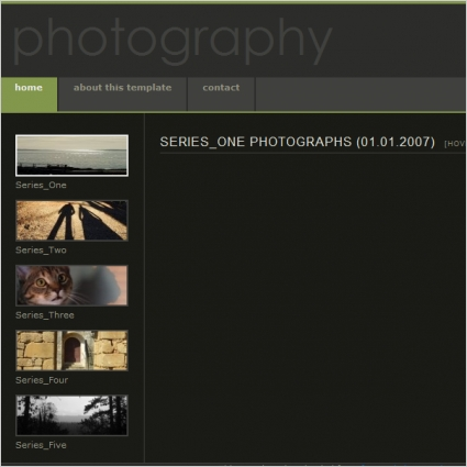 Photography Template Free Website Templates In Css Html Js Format - Free html photography website templates