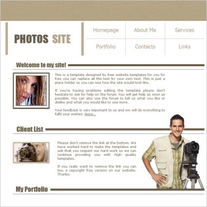 Photos Site Template