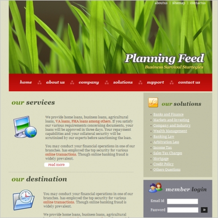 Planning Feed Template