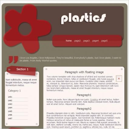 Plastics Template