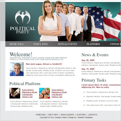 Political Party Template Free Website Templates In Css Html Js - Political website templates