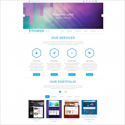 powerful bootstrap template free website templates in css html js