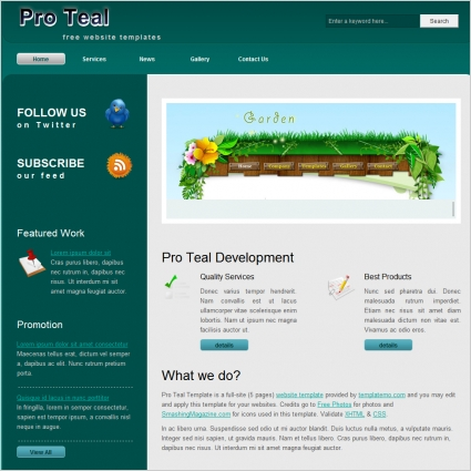 pro teal free website templates in css html js format for free download 92884kb - Free Website Templates