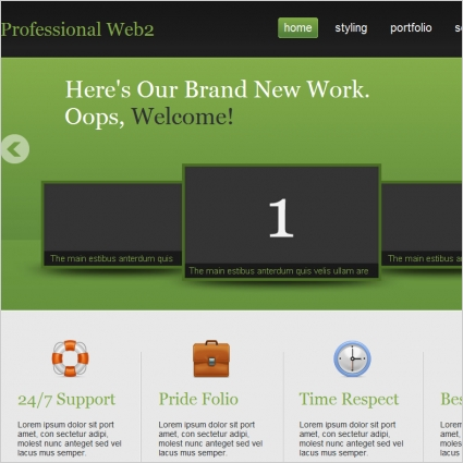 Professional Web2 Template