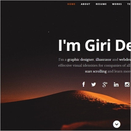 profile website template free website templates in css html js