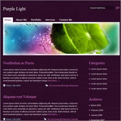 Purple Light Template