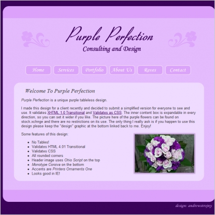 Purple Perfection Template