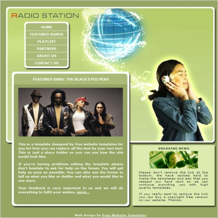 Radio Station Template
