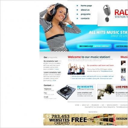 Radio Station Template Online Preview