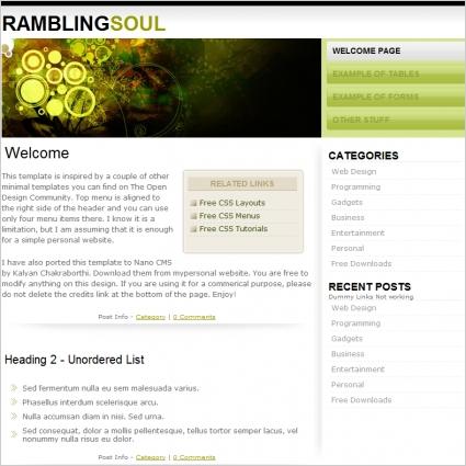 Rambling soul Template