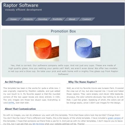 Raptor Software Template