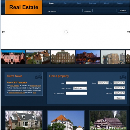 real estate free website templates in css html js format for free