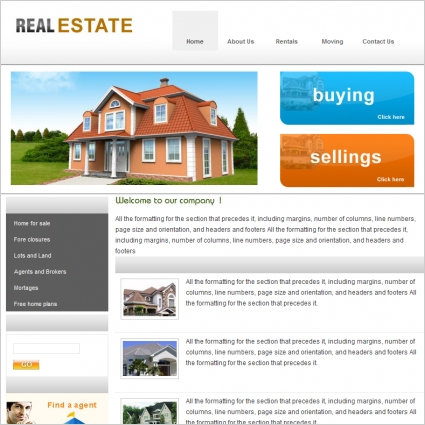 real estate template free website templates in css html js format