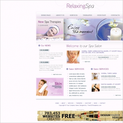 relaxing spa template free website templates in css html js format