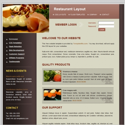 restaurant Free website templates in css, html, js format for free ...