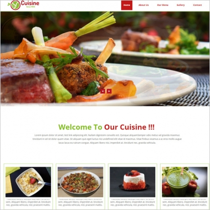 Restaurant website template with menu Free website templates in css ...