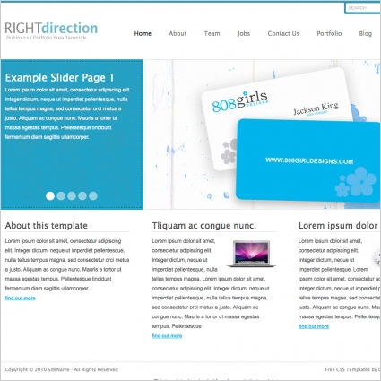 RightDirection Template